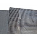 "Carbon fiber sheet 50x50 cm, thickness 6.5 mm (0.256"")"