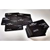 Carbon fiber business cards - 50 items, single side overprint