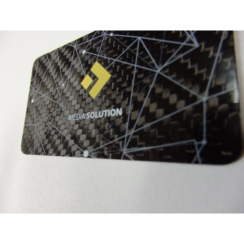 Carbon fiber business cards - 50 items, single side overprint ...