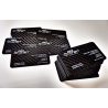 Carbon fiber business cards - 100 items, single side overprint