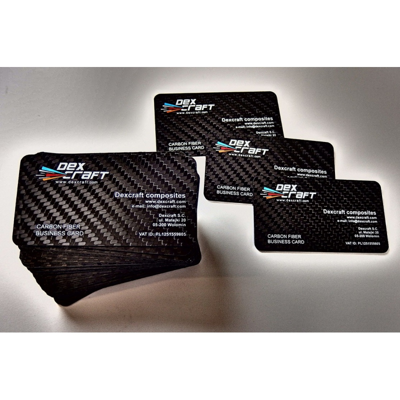 Carbon fiber business cards - 100 items, single side overprint ...