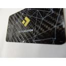 Carbon fibre business cards