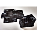 Carbon fiber business cards - 100 items, double side overprint