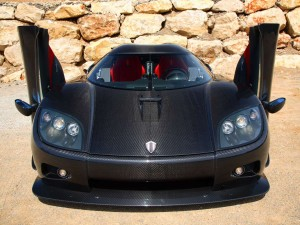 Koenigsegg CCXR made from carbon fiber composites