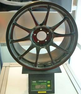 Epoxy carbon fiber wheel