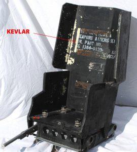Bulletproof aircraft seat, kevlar seat