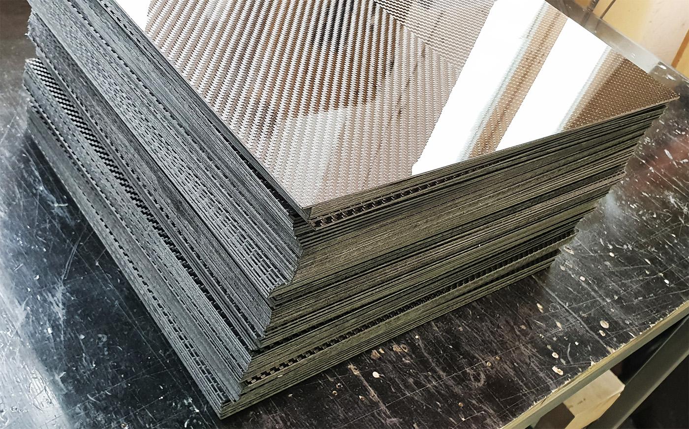 Carbon fiber sheets manufacturing
